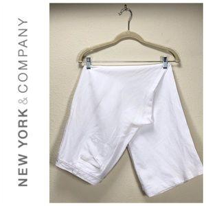New York White Wide Leg Linen Pants